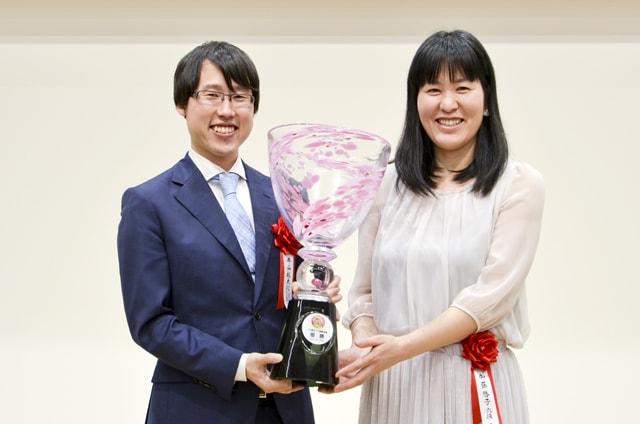 優勝した加藤・井山ペア